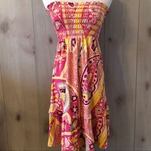 JUICY COUTURE pink paisley SWIM COVERUP